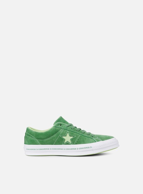 sneakers converse one star pinstripe ox mint green jade lime white