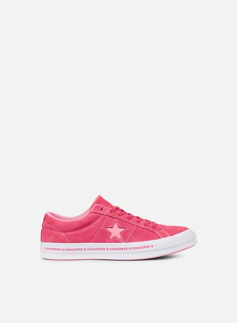sneakers converse one star pinstripe ox paradise pink geranium pink white
