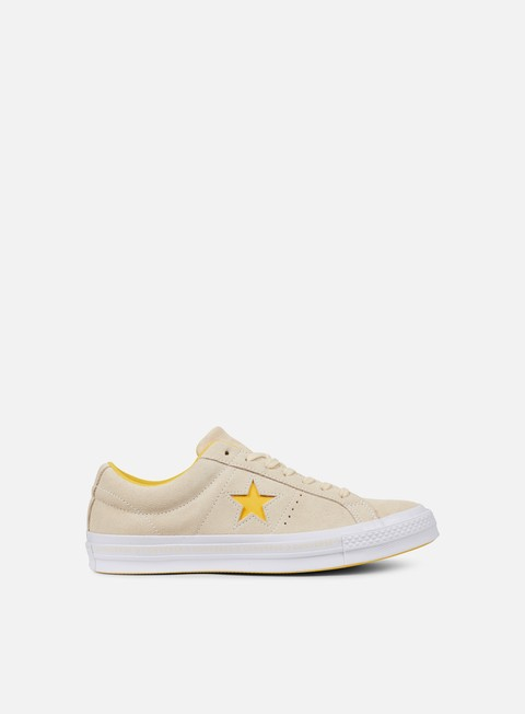 sneakers converse one star pinstripe ox vanilla solar power white