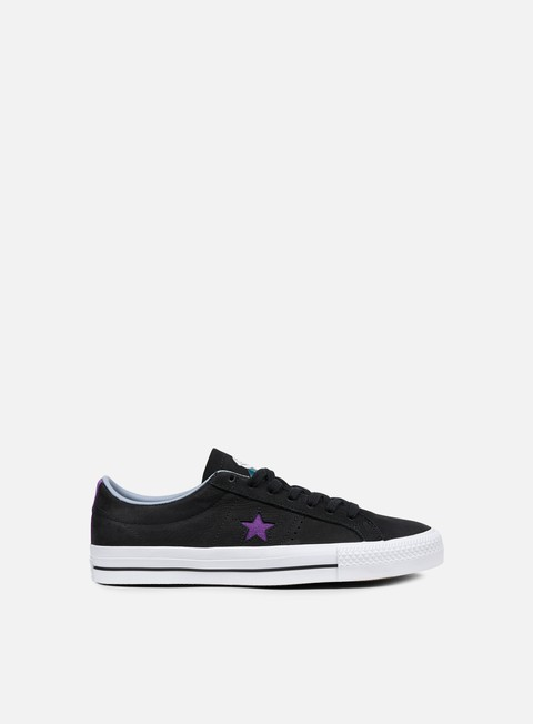 sneakers converse one star pro ox black allium purple white