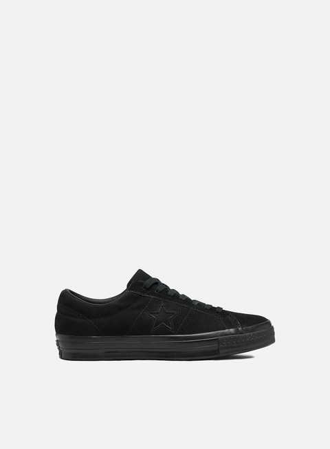Converse One Star Suede Triple Black Low