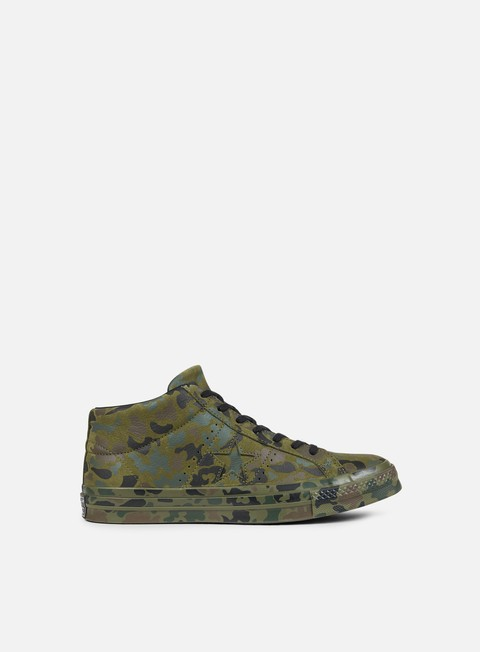 sneakers converse one star utility camo mid herbal collard black