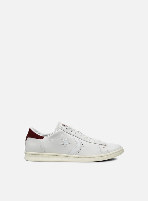 sneakers converse pro leather lp ox white dust maroon