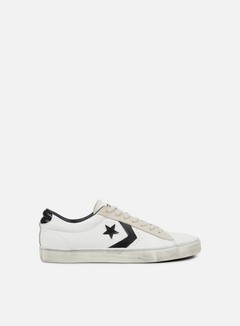 Converse - Pro Leather Vulc Distressed Ox, Star White/Black/Vaporous Grey