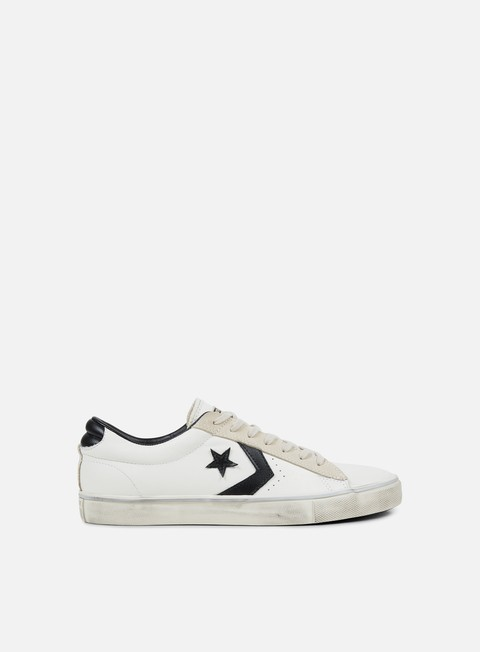 sneakers converse pro leather vulc distressed ox star white black vaporous grey