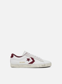 Converse - Pro Leather Vulc Distressed Ox, White Dust/Chocolate Truffle 1
