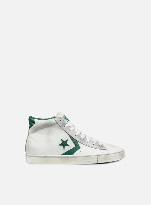 sneakers converse pro leather vulc mid star white pool table