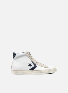 Converse - Pro Leather Vulc Mid, White/Navy 1
