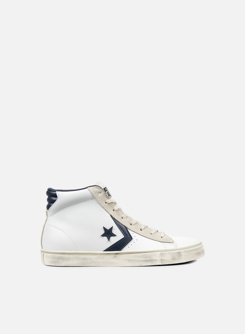 sneakers converse pro leather vulc mid white navy