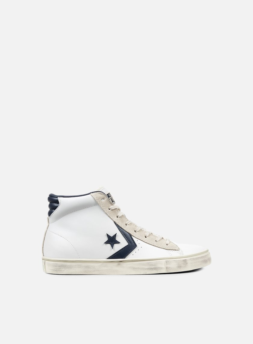 Converse - Pro Leather Vulc Mid, White/Navy