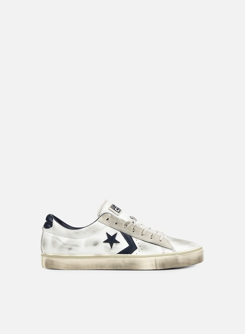 sneakers converse pro leather vulc ox white navy turtle