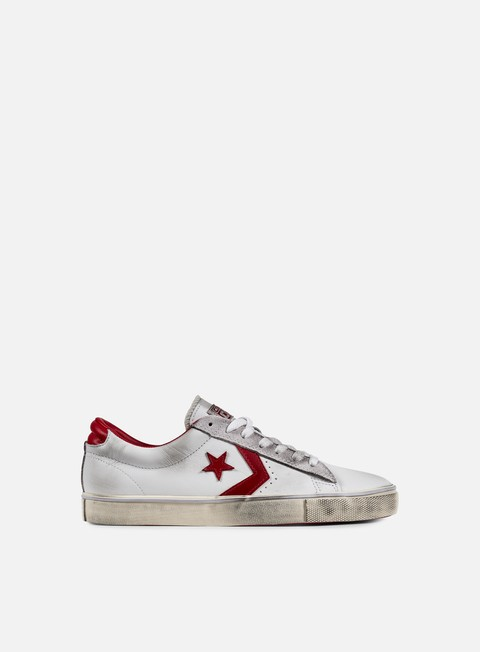 sneakers converse pro leather vulc ox white tango red
