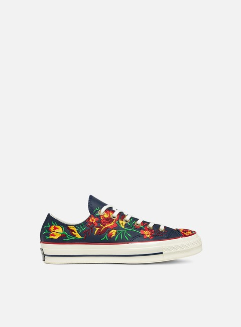 sneakers converse wmns all star 70 floral leather obsidian cherry red egret