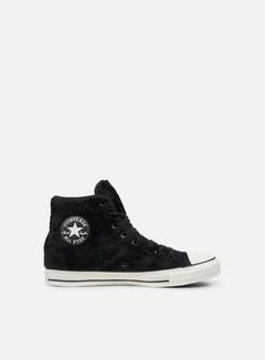 Converse - WMNS All Star Hi Faux Fur, Black/Black/White