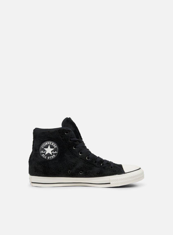 Converse All Star Hi Scarpe Sneaker Donna Nero 559014C BLK/BLK/WHT