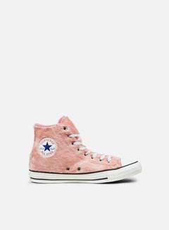 Converse - WMNS All Star Hi Faux Fur, Rose Tan/Black/White 1
