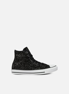 Converse - WMNS All Star Hi Glittery, Black/White/Black 1
