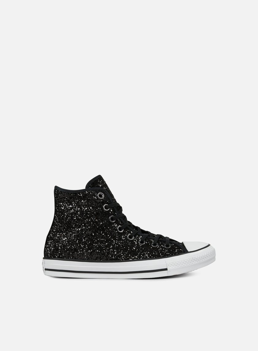 Converse - WMNS All Star Hi Glittery, Black/White/Black