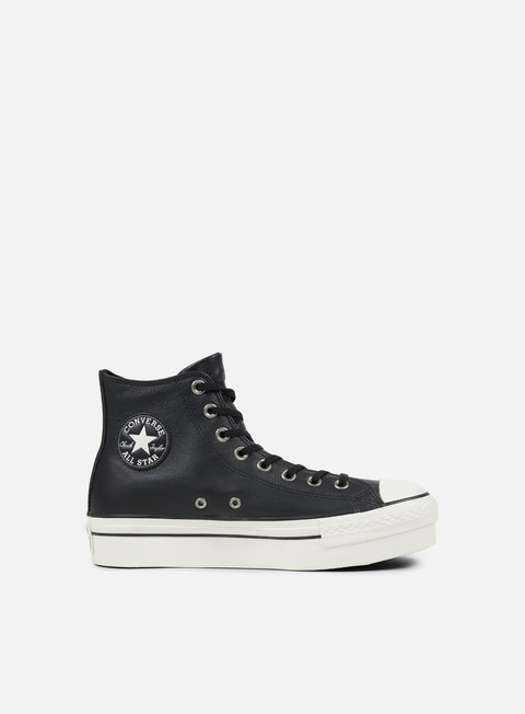 sneakers converse wmns all star hi platform black black egret