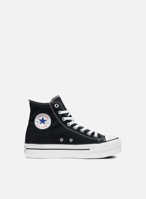 sneakers converse wmns all star hi platform canvas black
