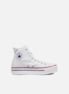 Converse - WMNS All Star Hi Platform Canvas, White 1