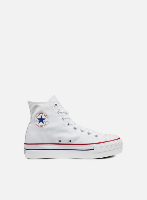sneakers converse wmns all star hi platform canvas white