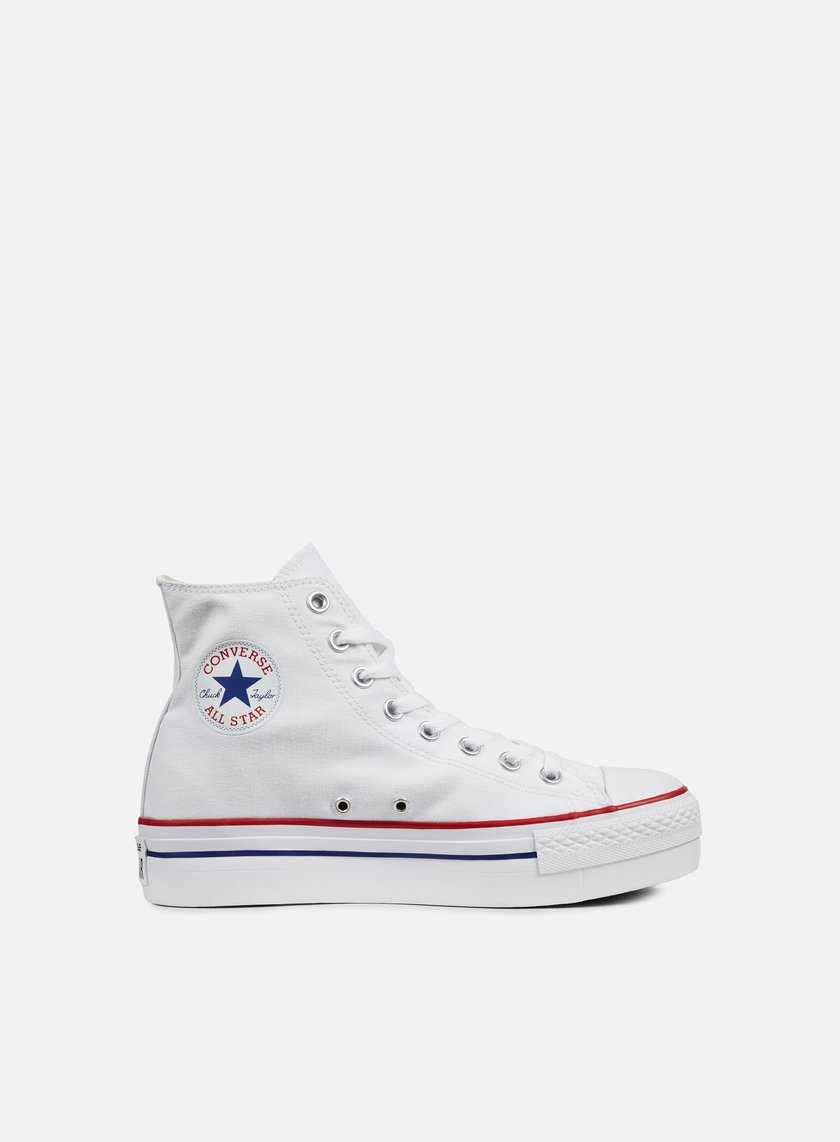 converse all star platform bianche