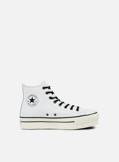 Converse - WMNS All Star Hi Platform, White/Black/White 1