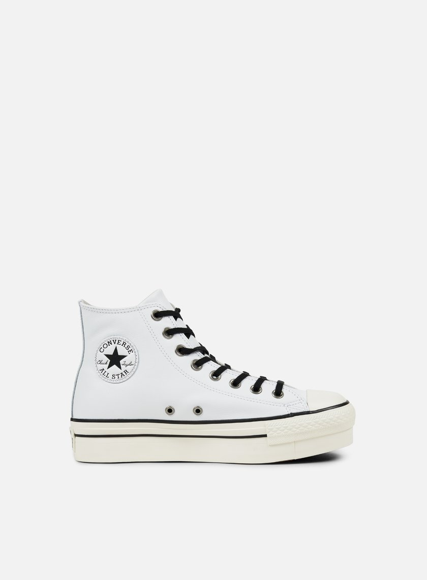 all star converse bianche platform