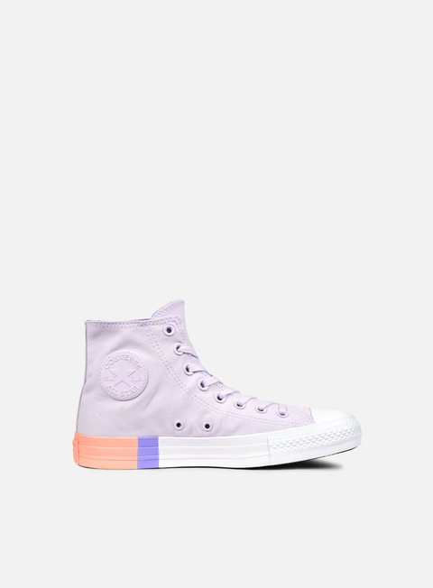 sneakers converse wmns all star hi tri block midsole barely grape twilight pulse