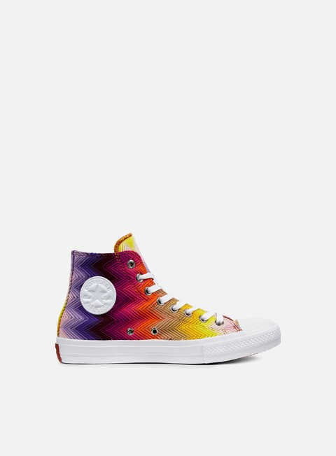 sneakers converse wmns all star ii hi missoni white multicolor white
