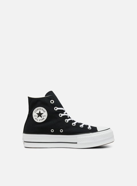 sneakers converse wmns all star lift hi clean core black white white