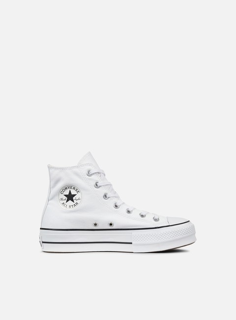 sneakers converse wmns all star lift hi clean core white black white