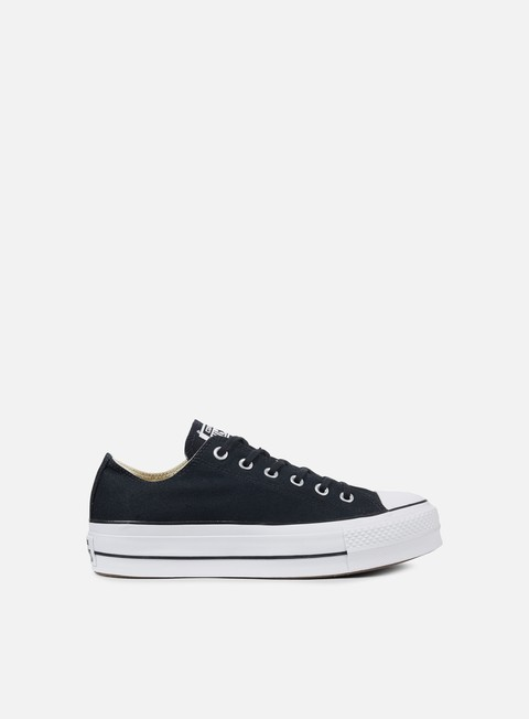 sneakers converse wmns all star lift ox black white white