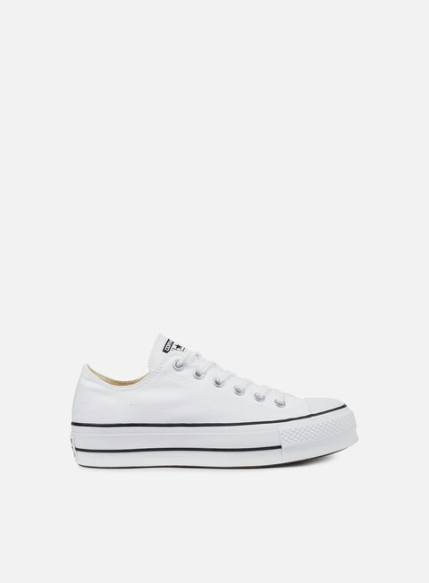 sneakers converse wmns all star lift ox clean core white black white