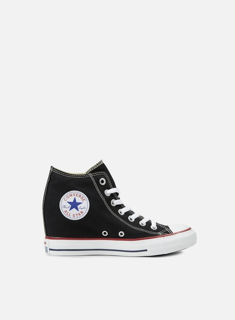 sneakers converse wmns all star mid lux canvas black