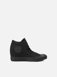 Converse - WMNS All Star Mid Lux Canvas, Black Monochrome 1