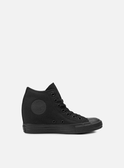 sneakers converse wmns all star mid lux canvas black monochrome