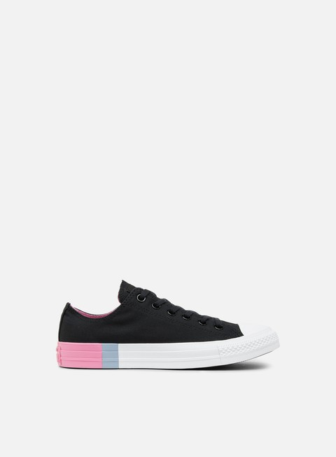 sneakers converse wmns all star ox tri block midsole black light orchidea white
