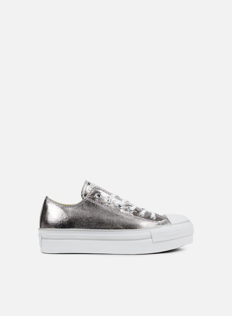 sneakers converse wmns all star platform ox gunmetal white mouse
