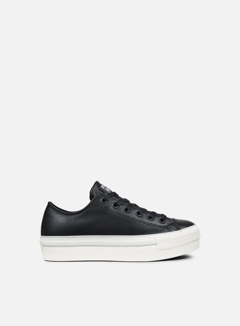 sneakers converse wmns all star platform ox leather black mouse white