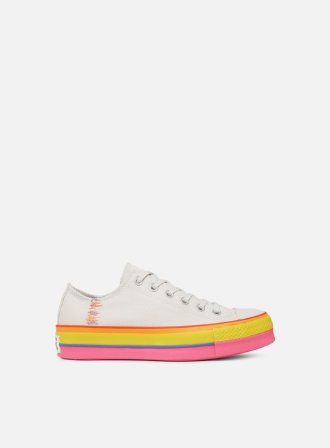Outlet e Saldi Sneakers Basse Converse WMNS All Star Rainbow Platform Low