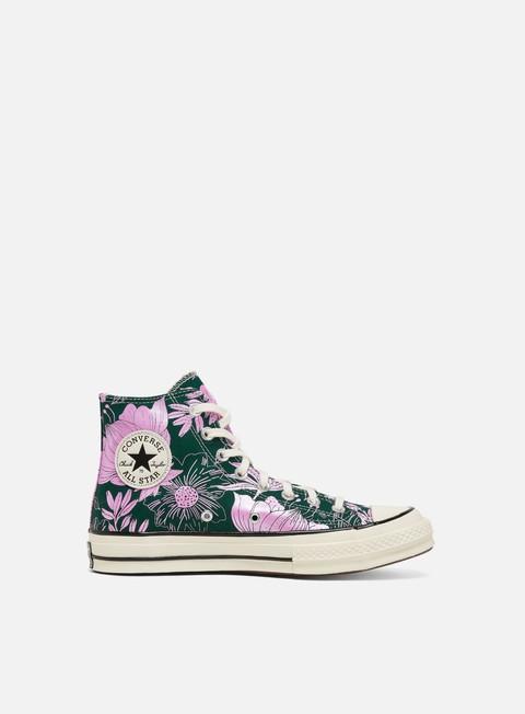 High Sneakers Converse WMNS Chuck 70 Flowers Hi