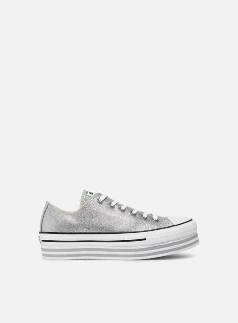 Converse WMNS Chuck Taylor All Star Shiny Metal Lift Low