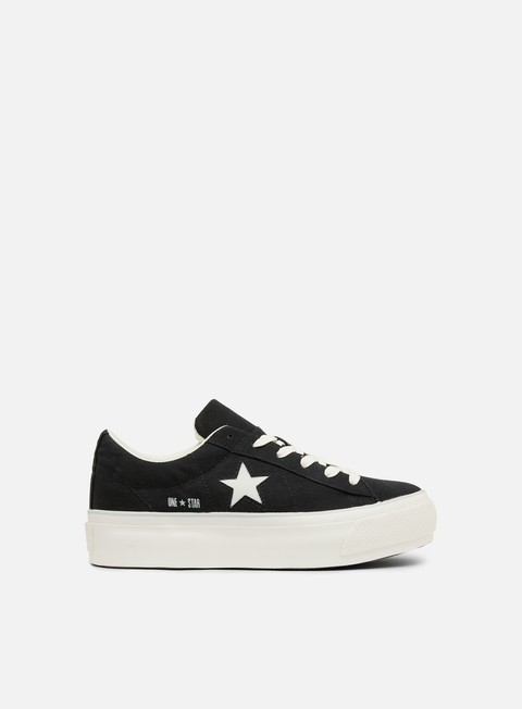 sneakers converse wmns one star platform ox black white egret