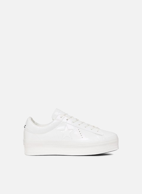 sneakers converse wmns one star platform ox leather vintage white vintage