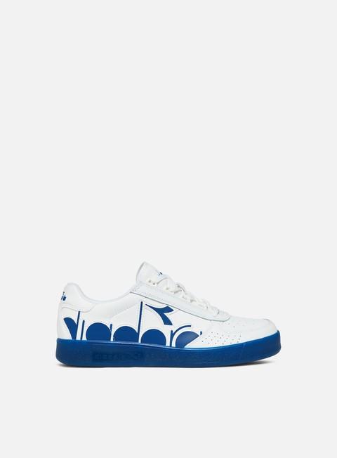 sneakers diadora b elite bolder white blue cobalt