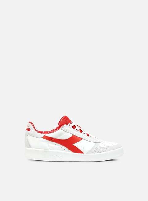 sneakers diadora b elite made in italy white red