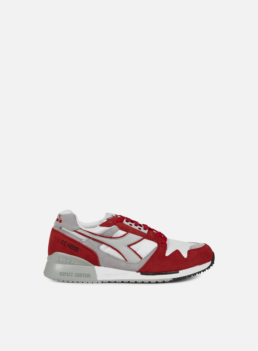 Diadora - IC 4000 NYL, White/Bittersweet Red