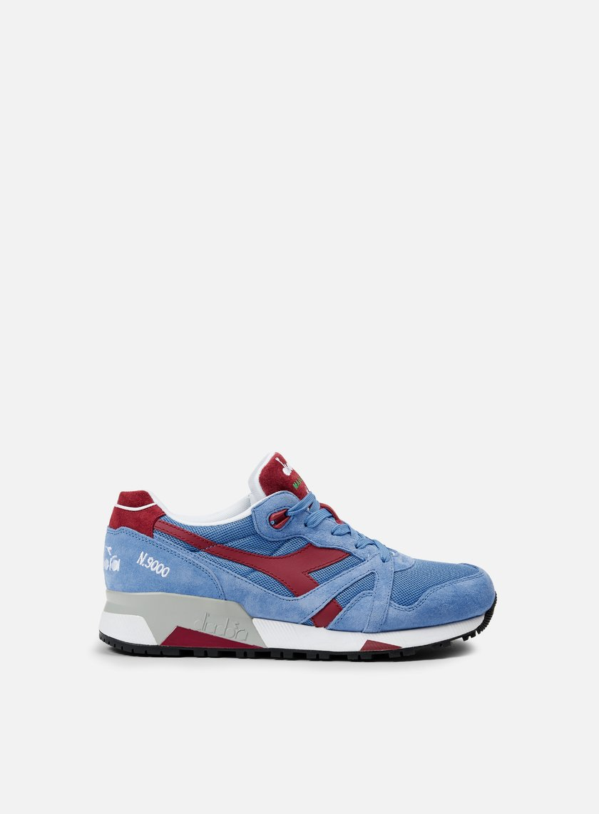 Diadora - N9000 Italia, Silver Lake Blue/Tibetan Red